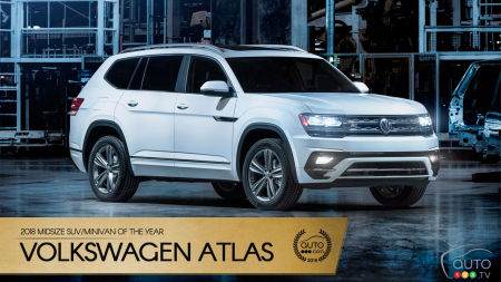the vw atlas our 2018 midsize suv minivan of the year. Black Bedroom Furniture Sets. Home Design Ideas
