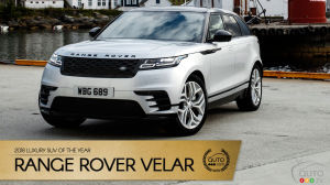 Land Rover Range Rover Velar, Auto123.com's 2018 Luxury SUV of the Year