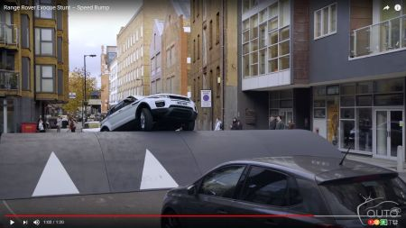 Range Rover Evoque Takes on the World's Biggest Speed Bump!