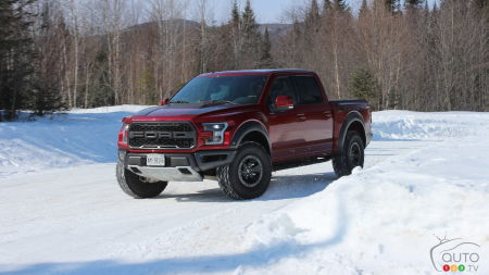 2017 Ford F-150 Raptor tackling winter like a grizzly