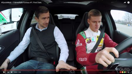 Mick Schumacher, son of Michael, learns to drive… a Mercedes-AMG A 45!