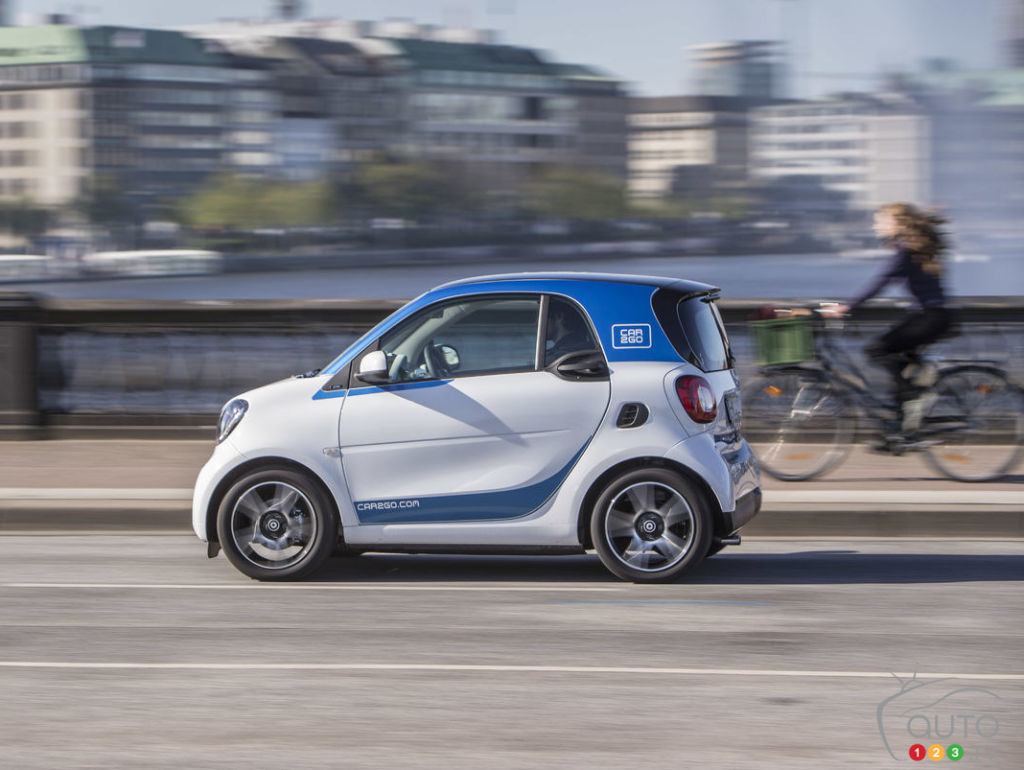 The new smart fortwo is now joining the car2go fleet in Montreal