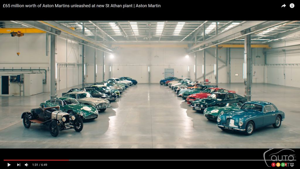 28 Aston Martins worth $115 million have a blast inside the new factory!