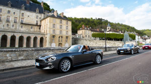See the Fiat 124 Spider Beautify France, from Paris to Deauville