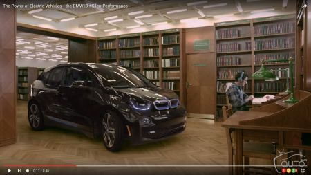 BMW i3 is so quiet it can drive inside a library