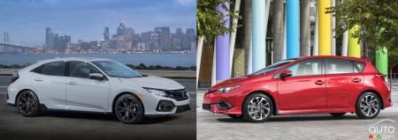 Corolla Vs Civic 2017 >> 2017 Honda Civic Hatchback Vs 2017 Toyota Corolla Im Car