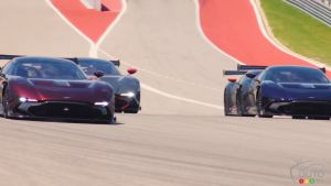 Aston Martin Vulcan Owners Light up Circuit of The Americas