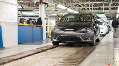 À la rencontre des Chrysler Pacifica et Dodge Grand Caravan à l'usine de Windsor