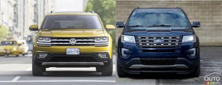 2018 Volkswagen Atlas vs 2017 Ford Explorer | Car Reviews | Auto123