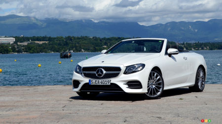 2018 Mercedes E-Class Cabriolet and its Little Cousin in Sunny Switzerland