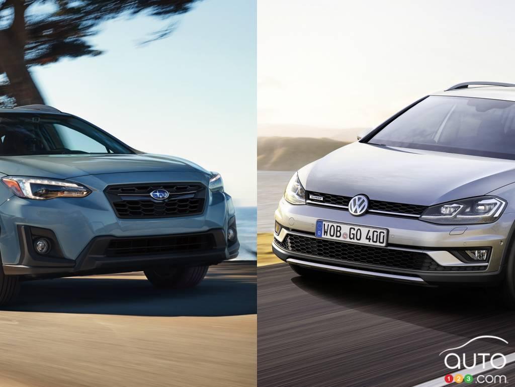 2018 Subaru Crosstrek Vs 2017 Volkswagen Golf Alltrack Car Reviews
