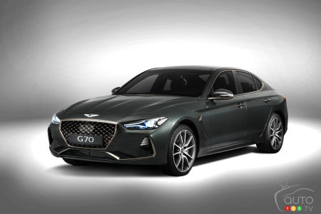 The New Genesis G70 Unveiled In Seoul Car News Auto123