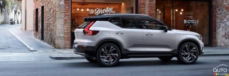 le volvo xc40 se d voile et arrivera au canada au printemps actualit s automobile auto123. Black Bedroom Furniture Sets. Home Design Ideas
