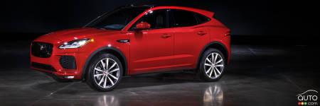 le jaguar e pace 2018 d barque en am rique voici ses prix actualit s automobile auto123. Black Bedroom Furniture Sets. Home Design Ideas