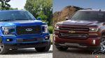 2018 Ford F-150 and 2017 Chevrolet Silverado