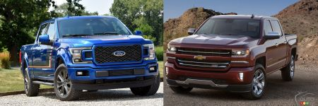 ford f 150 vs chevrolet silverado la guerre se poursuit. Black Bedroom Furniture Sets. Home Design Ideas