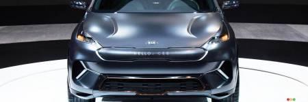ces 2018 le kia niro lectrique s en vient actualit s automobile auto123. Black Bedroom Furniture Sets. Home Design Ideas
