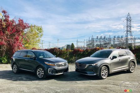 Comparison: 2019 Kia Sorento vs 2019 Mazda CX-9