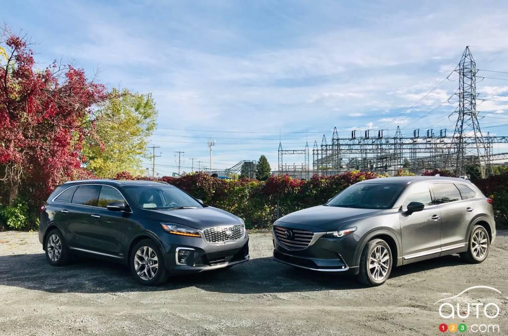 Comparison: 2019 Kia Sorento Vs 2019 Mazda CX 9