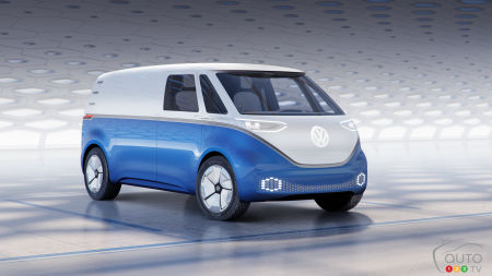 Los Angeles 2018: Volkswagen I.D. BUZZ CARGO makes N.A. debut