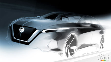 Nissan Teases Design Sketch of 2019 Altima