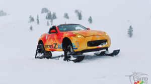 Nissan 370Zki and Rogue Warrior, to have fun in the snow!