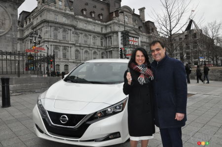 Montreal Receives 1st of 100 new 2018 Nissan LEAFs
