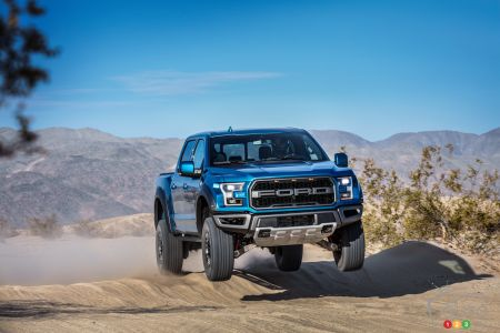 Off-Road Cruise Control and Adaptive Shocks Part of 2019 F-150 Raptor Equipment
