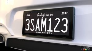 Our future licence plates could be digital… and show ads