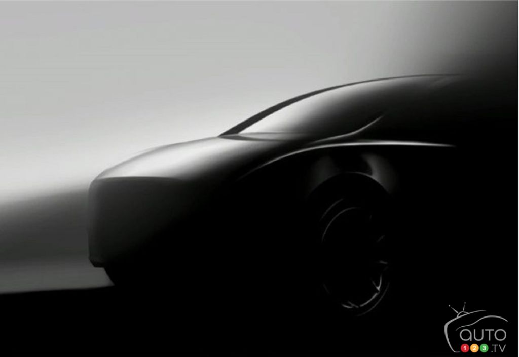 A Second Image of the Future Model Y from Tesla
