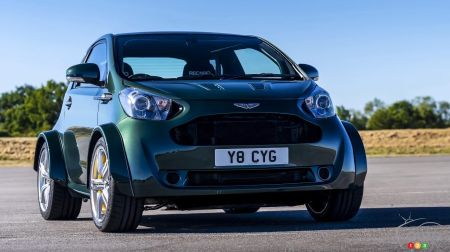 A V8-equipped Aston Martin Cygnet wows the Goodwood Festival