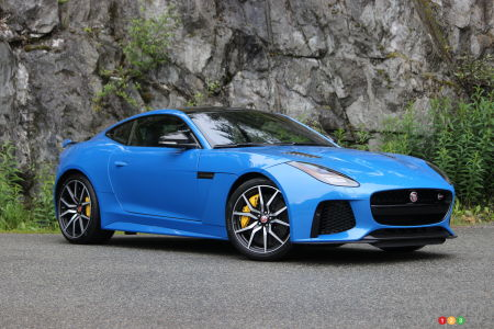 review of the 2018 jaguar f-type svr coupe | car reviews | auto123