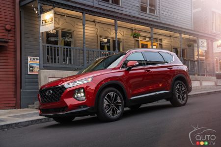 New 2019 Hyundai Santa Fe Earns Top Safety Pick+ from IIHS
