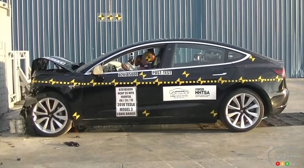 NHTSA Crash Tests: Tesla Model 3 Passes Exam