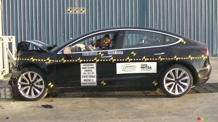 Tests de collision : un premier examen réussi pour la Tesla Model 3