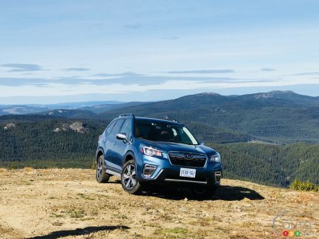 First drive of the 2019 Subaru Forester: Mountain Climbing in Premier class