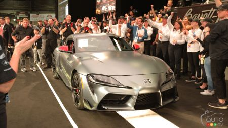 First 2020 Toyota Supra off Production Line Auctioned off for $2.1 M