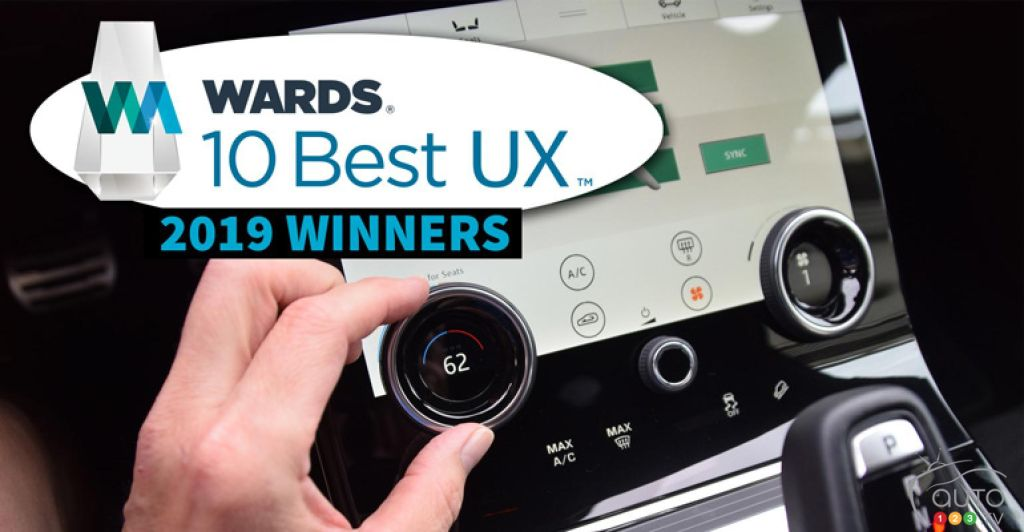 10 Best UX Winners for 2019, according to WardsAuto
