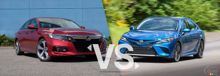 Comparaison : Honda Accord 2019 vs Toyota Camry 2019