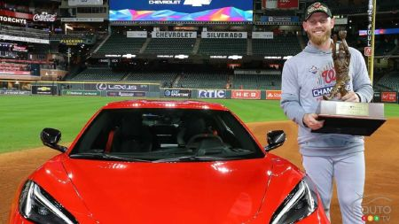 A 2020 Chevy Corvette for the MVP of Baseball's World Series