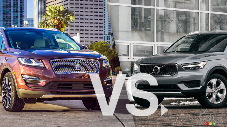 Comparaison : Lincoln MKC 2019 vs Volvo XC40 2019