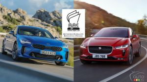 Kia Stinger, Jaguar I-PACE Canadian Vehicles of the Year, According to AJAC