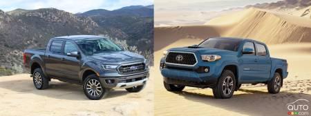 Comparison: 2019 Ford Ranger vs 2019 Toyota Tacoma | Car News | Auto123