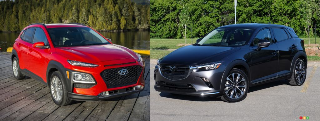 Comparison: 2019 Hyundai Kona vs 2019 Mazda CX-3