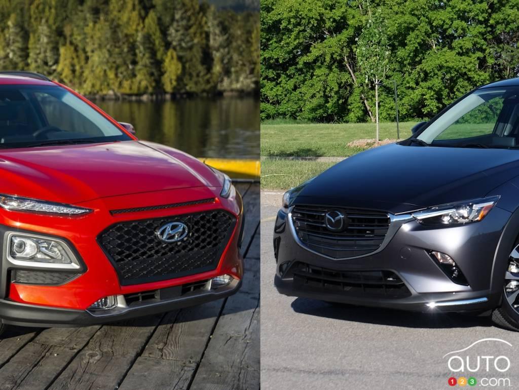 Comparison 2019 Hyundai Kona Vs 2019 Mazda Cx 3 Car News Auto123