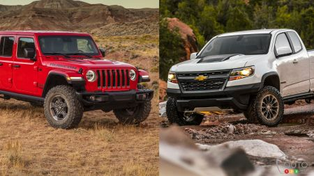 Comparaison : Jeep Gladiator 2020 vs Chevrolet Colorado ZR2