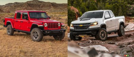 Comparison: 2020 Jeep Gladiator vs 2019 Chevrolet Colorado ZR2
