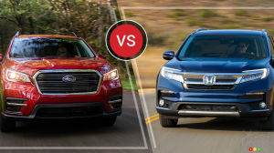 Comparaison : Honda Pilot 2019 vs Subaru Ascent 2019