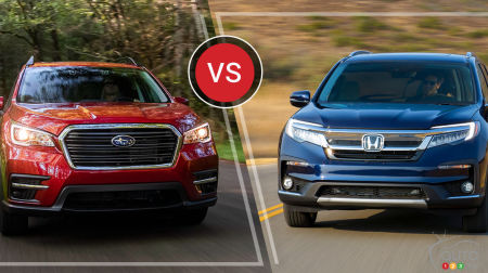 Comparison: 2019 Honda Pilot vs 2019 Subaru Ascent