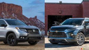 Comparaison : Chevrolet Blazer 2019 vs Honda Passport 2019